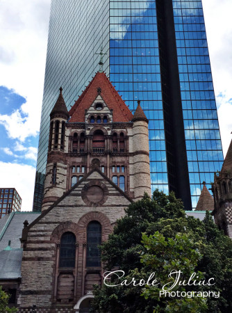 trinity church and hancock tower for carole knits