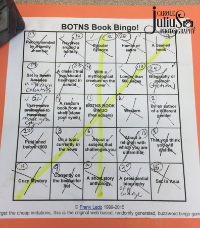 summer book bingo for carole knits