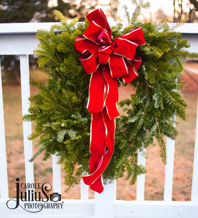 deck railing wreath for carole knits