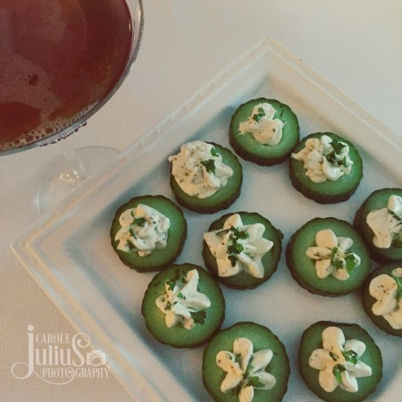 cucumber appetizers for carole knits