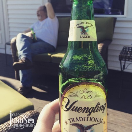 beer on the deck for carole knits