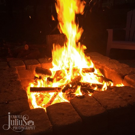 fire pit april 2016 for carole knits