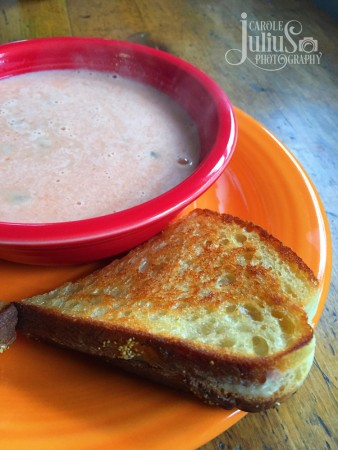 grilled cheese and soup for carole knits