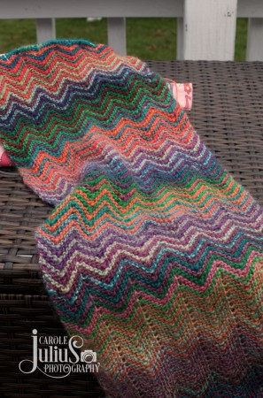zic zac scarf for carole knits