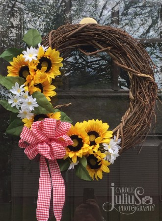 sunflower wreath for carole knits