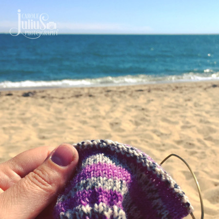 beach sock knitting for carole knits