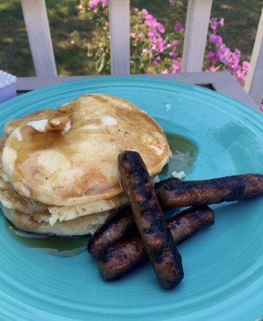 pancakes and sausage for carole knits