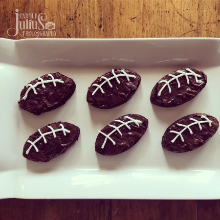 football brownies for carole knits