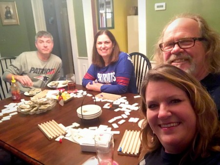 mexican train and oysters for carole knits